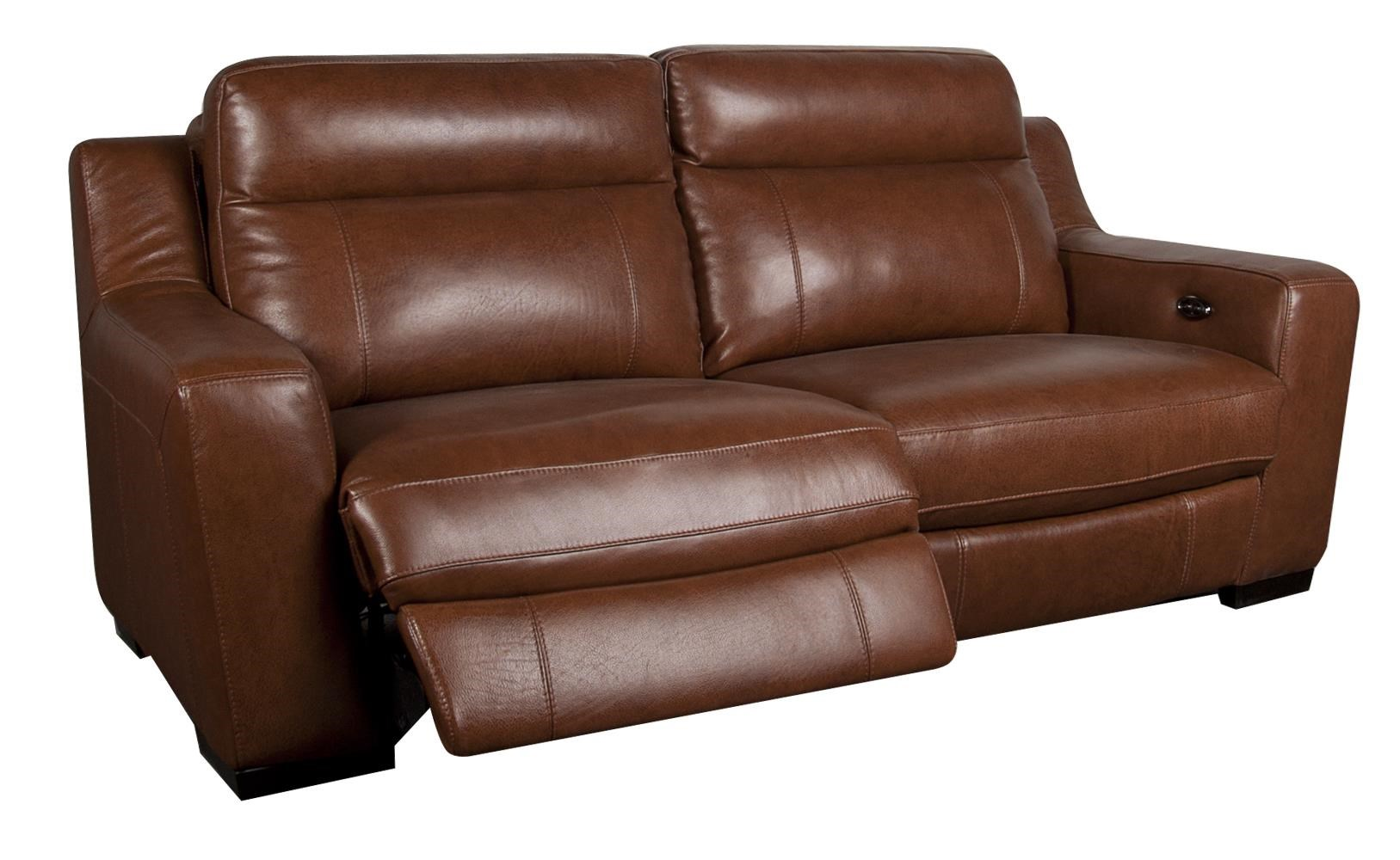 San Lorenzo Andy Modern Leather Match Power Reclining Sofa
