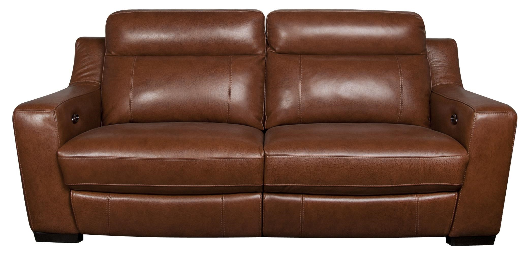 Andy Leather Match Power Sofa