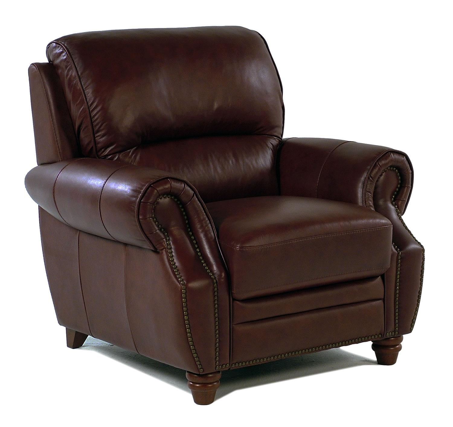 Giovani Barrister Traditional Leather Chair w/ Nailhead Trim - Item Number: 10441NH-AC