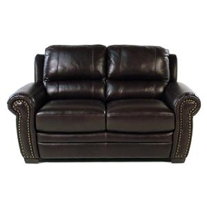 Giovani Devonshire Leather Loveseat