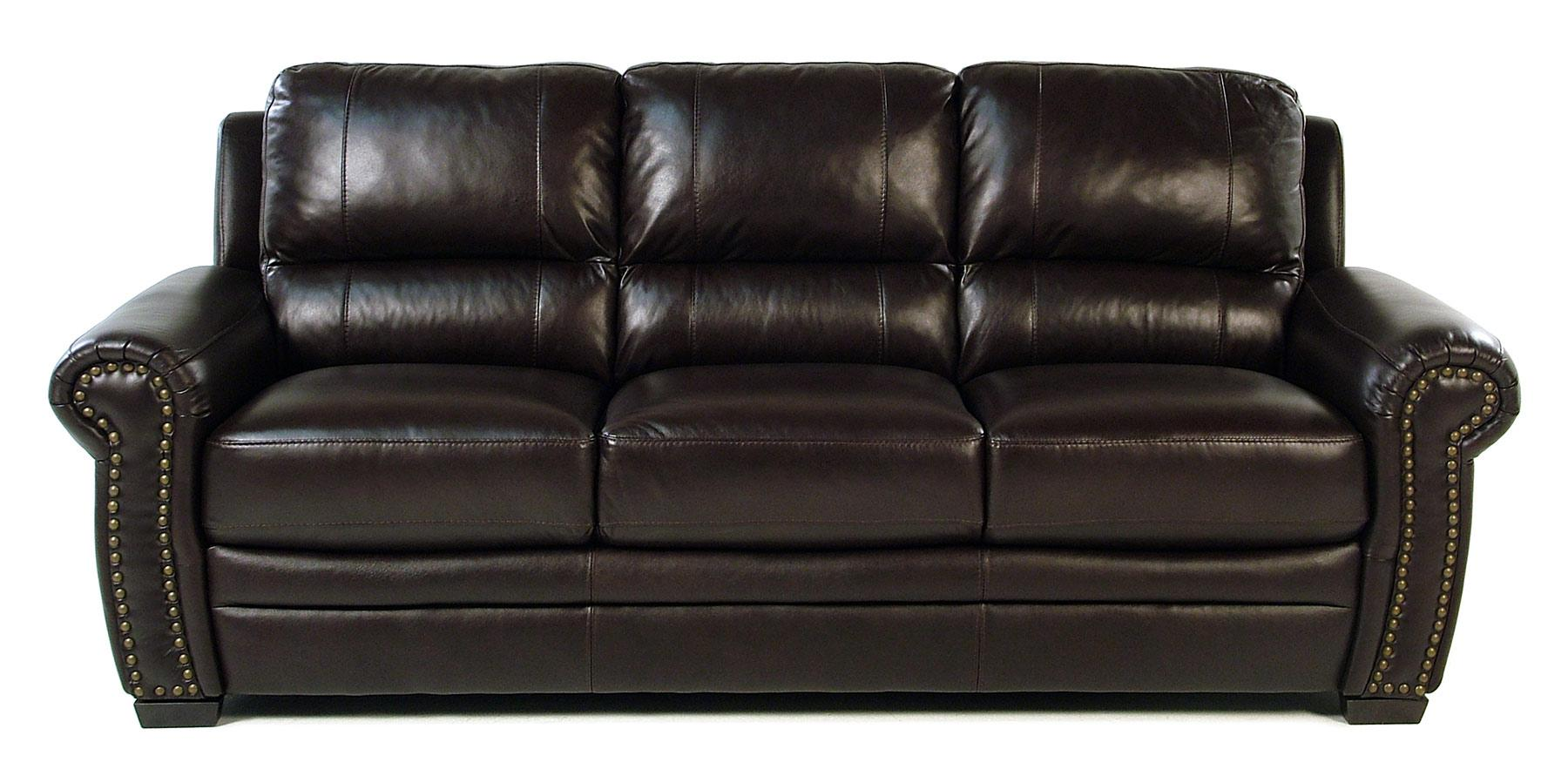 Giovani Devonshire Leather Sofa - Item Number: 10013NH-Y3S