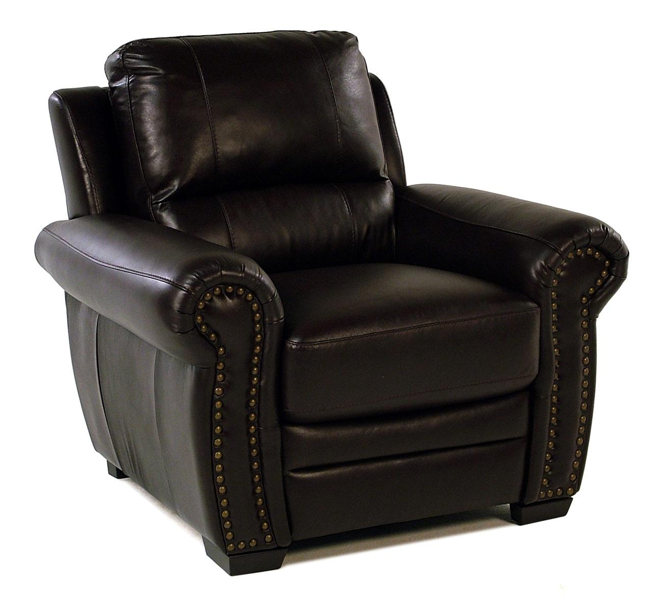 Giovani Devonshire Leather Chair - Item Number: 10013NH-YAC