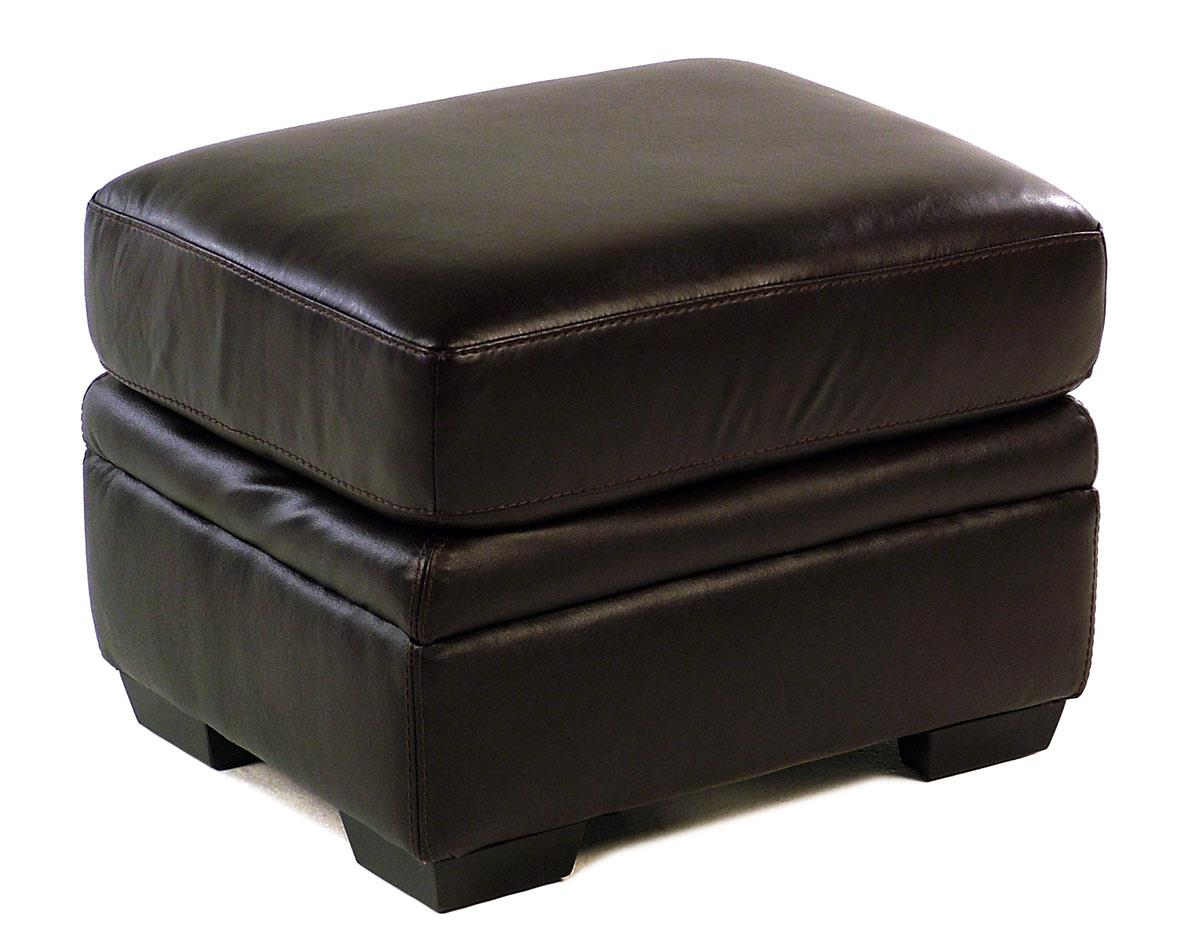 Giovani Devonshire Leather Ottoman - Item Number: 10013NH-YRFST