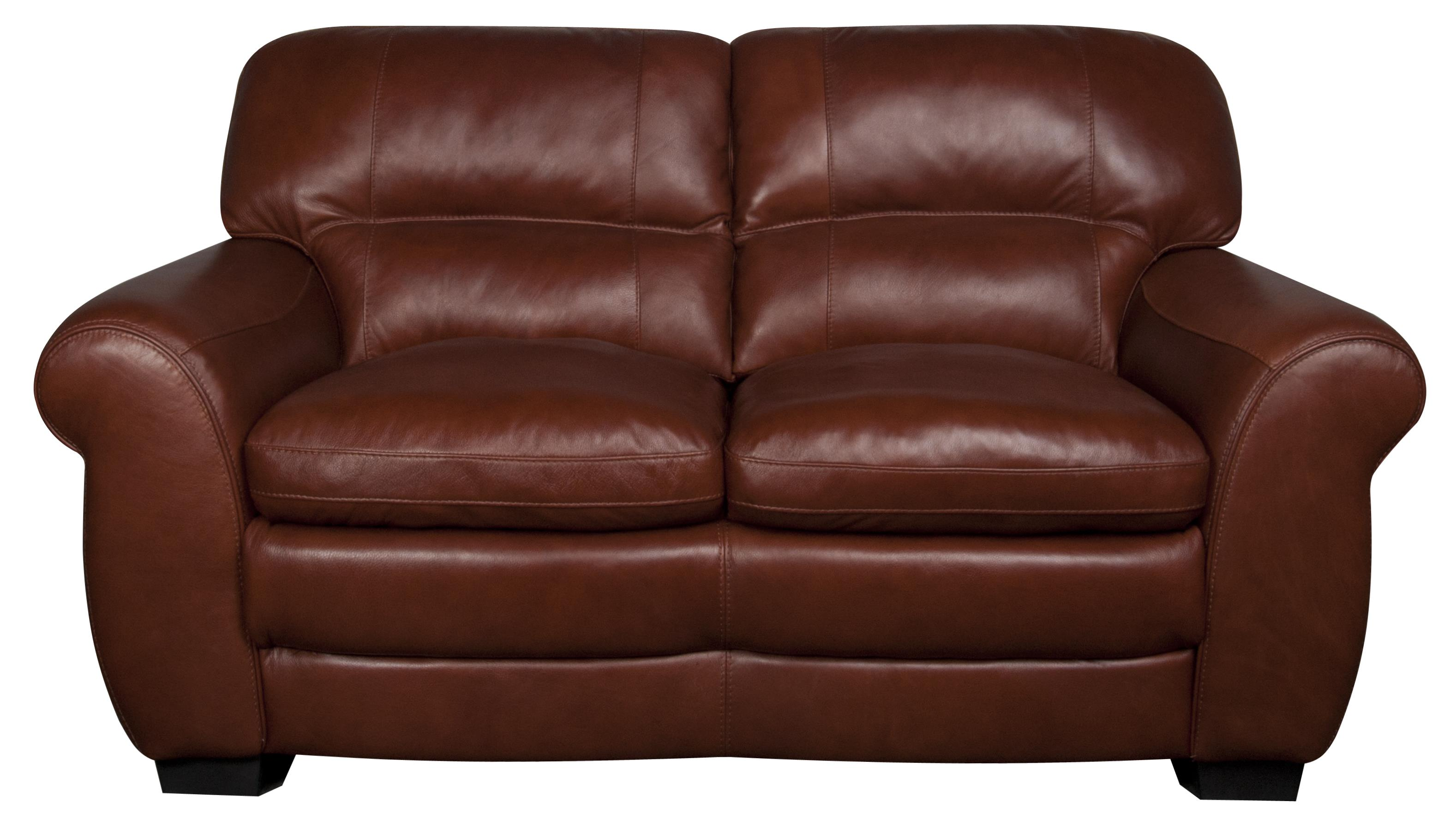 Morris Home Furnishings Ellis Ellis 100% Leather Loveseat - Item Number: 636800647