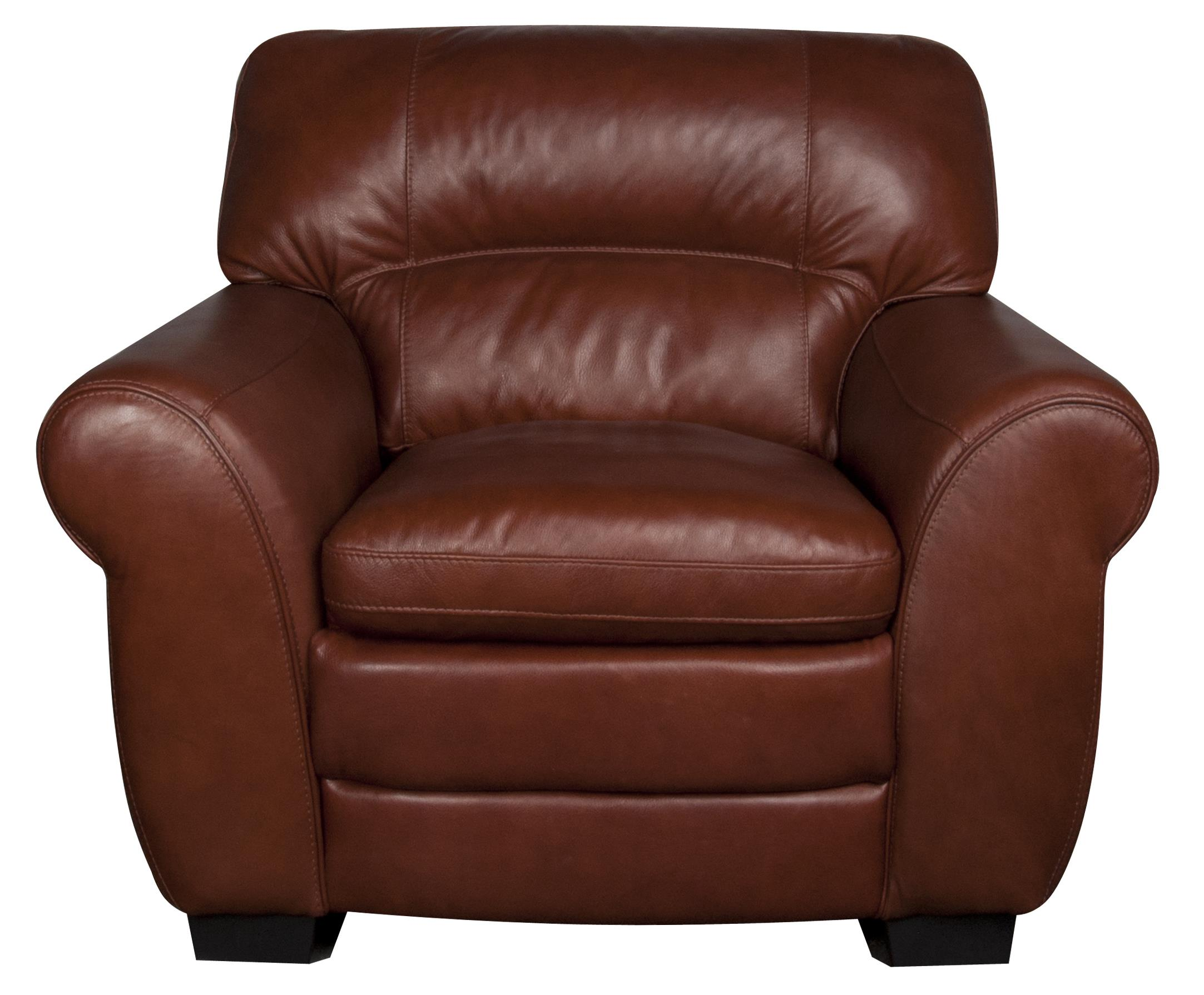 Morris Home Furnishings Ellis Ellis 100% Leather Chair - Item Number: 680978488