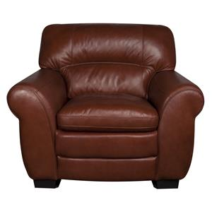 Morris Home Furnishings Ellis Ellis 100% Leather Chair