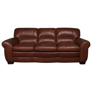 Morris Home Furnishings Ellis Ellis 100% Leather Sofa