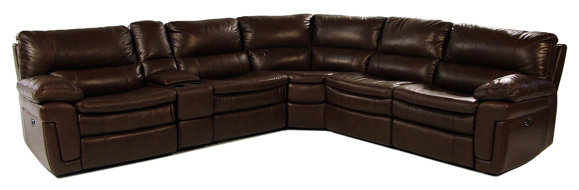 Giovani Fairwinds 6PC Power Reclining Leather Sectional - Item Number: 10291-6PC-SECT