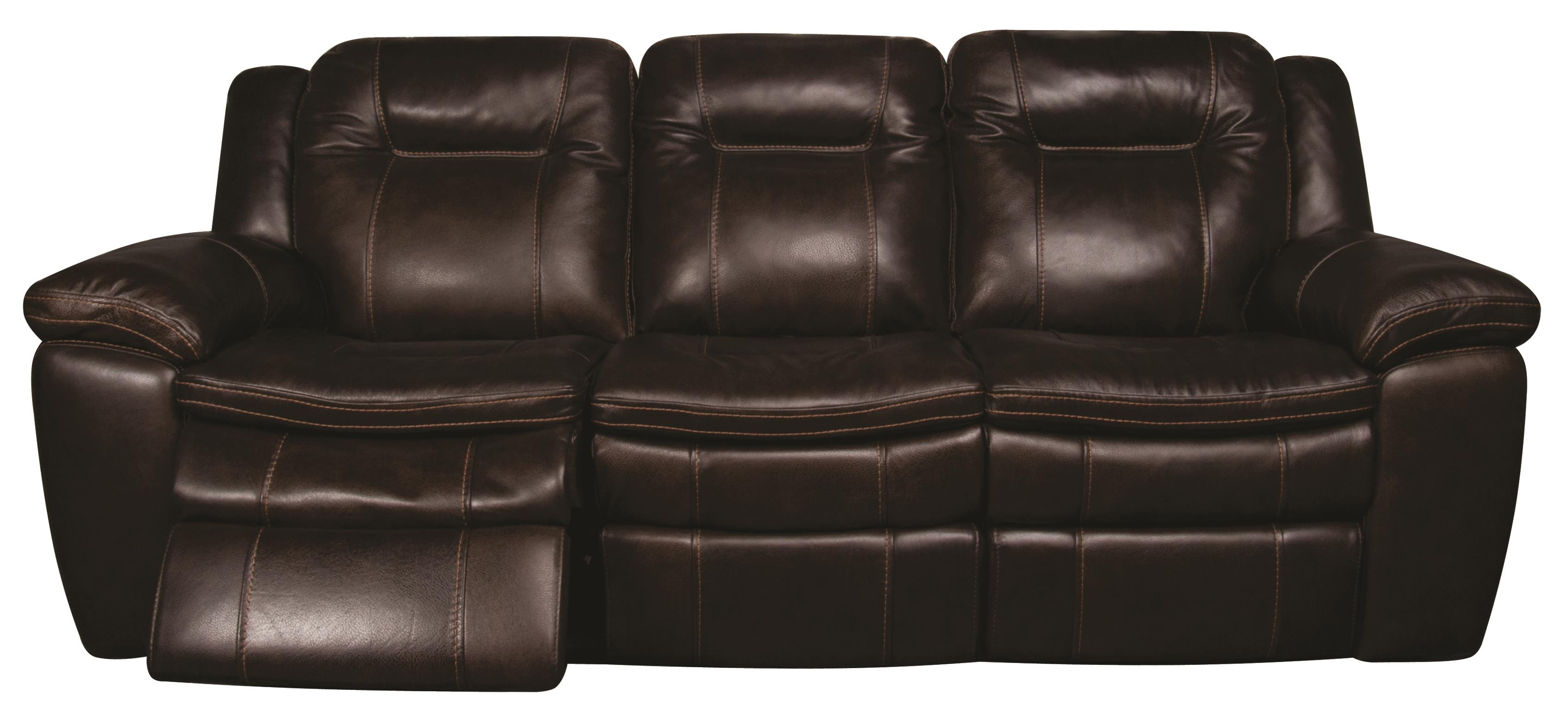 San Lorenzo Heath Power Leather Match Reclining Sofa