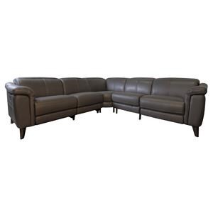 Heston Power Leather Match Sectional
