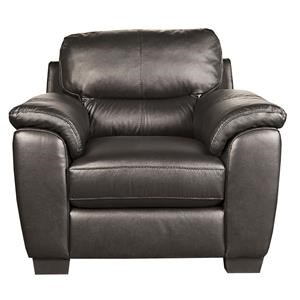 San Lorenzo Holt Holt 100% Leather Chair