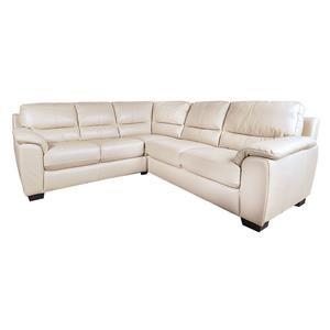 Morris Home Furnishings Holt Holt 100% Leather 2-Piece Sectional