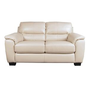 San Lorenzo Holt Holt 100% Leather Loveseat
