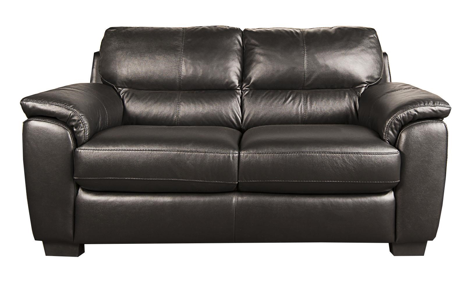 Holt 100% Leather Loveseat