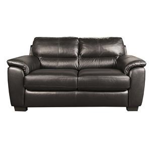 Morris Home Furnishings Holt Holt 100% Leather Loveseat