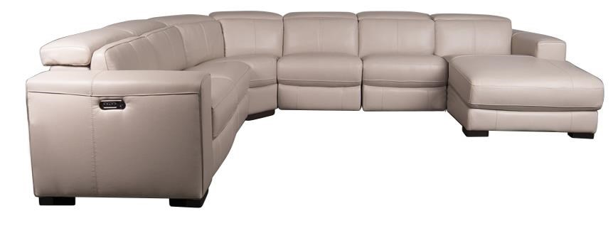 Landon Leather Match Power Sectional