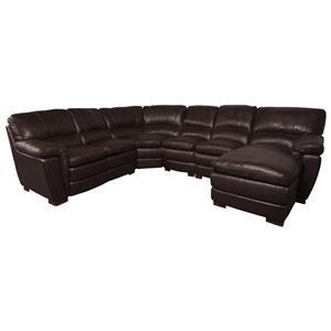 Merritt Leather Match Sectional Sofa