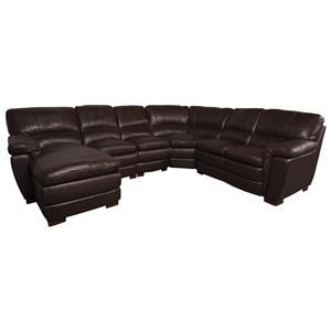 San Lorenzo Meritt Merritt Leather Match Sectional Sofa