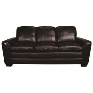 Morris Home Furnishings Rowan Rowan 100% Leather Sofa