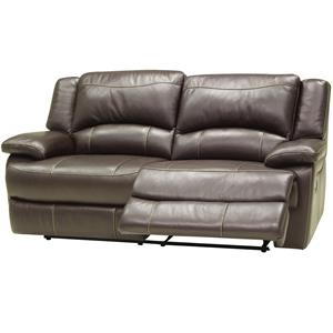 Double-Reclining Leather Loveseat