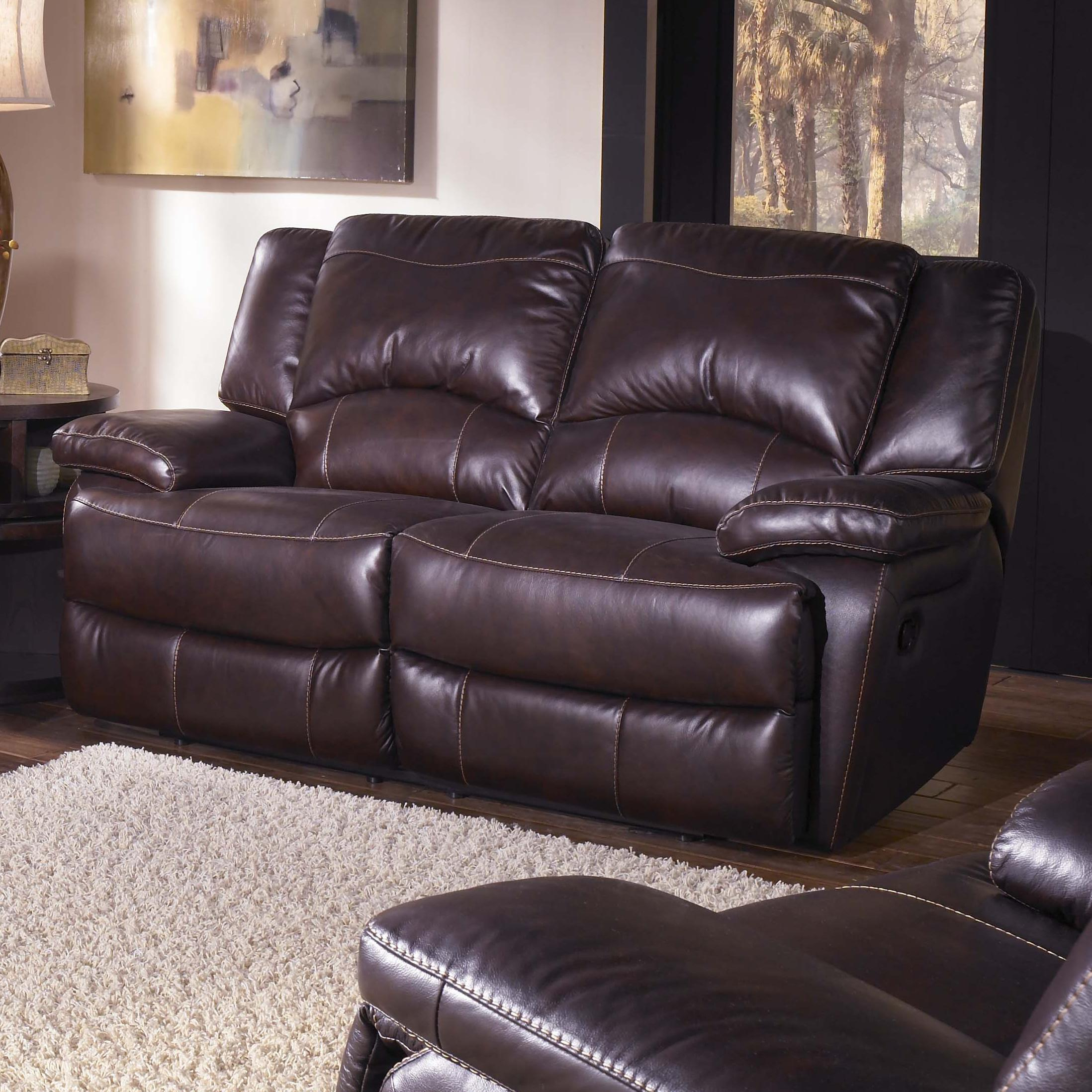 Htl T118 Casual Double Reclining Leather Loveseat With