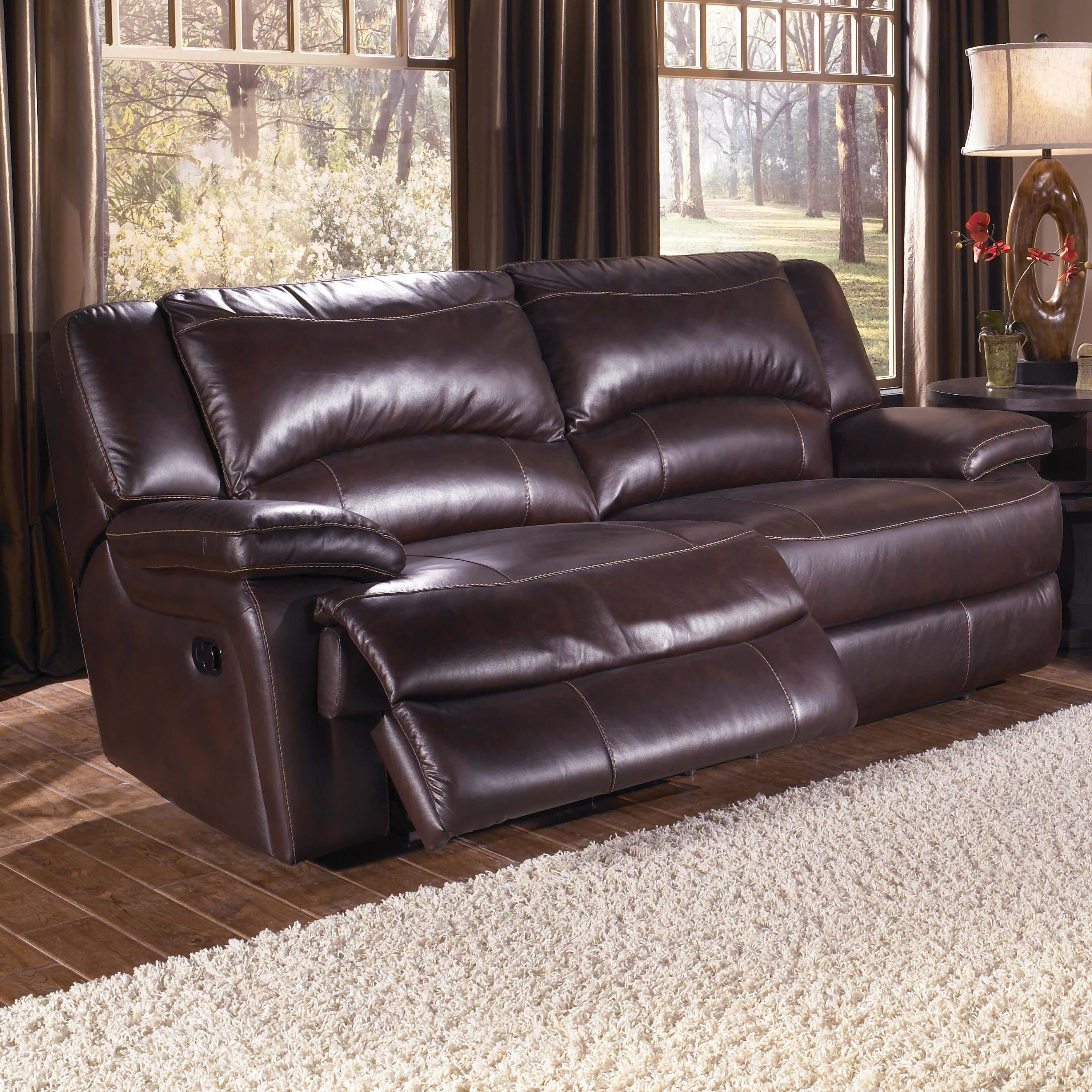 HTL T118 Casual Double-Reclining Leather Sofa with Bustle Back ...