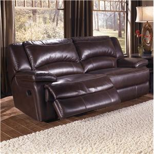 Htl T118 Casual Double Reclining Leather Sofa With Bustle Back Cushions Fashion Furniture