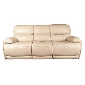 Wester Leather Match Power Reclining Sofa
