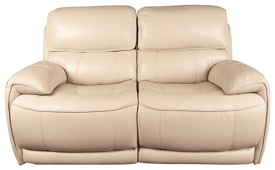 Wester Leather Match Power Loveseat