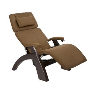 Human Touch Perfect Chair Recliners Classic Power Zero-Gravity Recliner with Dark Walnut Base