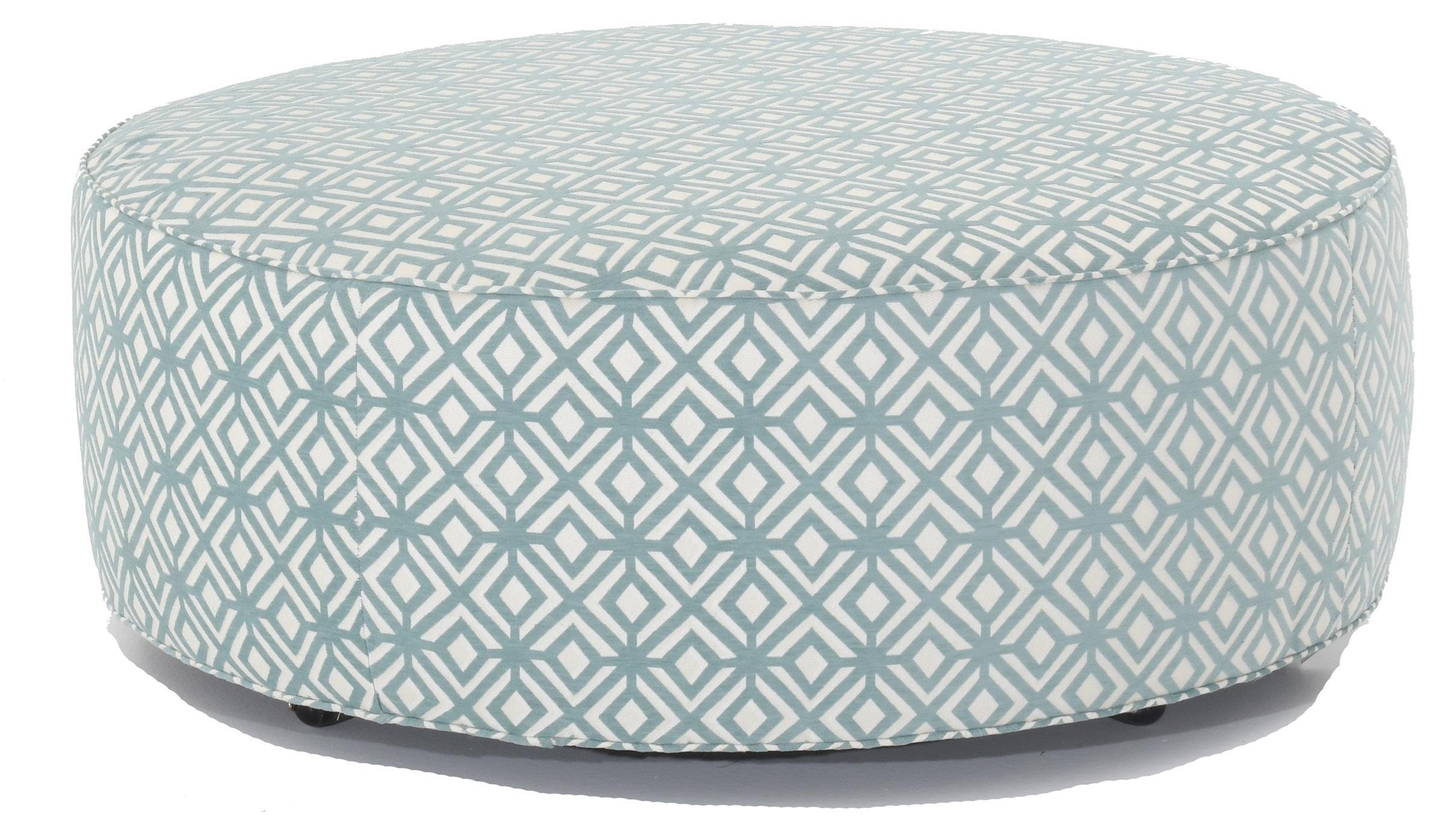 2021 Customizable Round Ottoman by Huntington House at Baer's Furniture