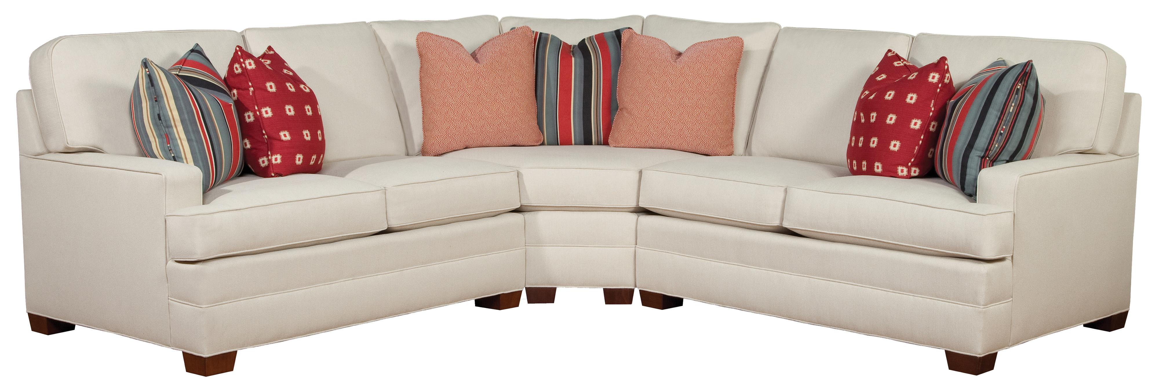 Huntington House 2061 Sectional - Item Number: 2061-43+32+42