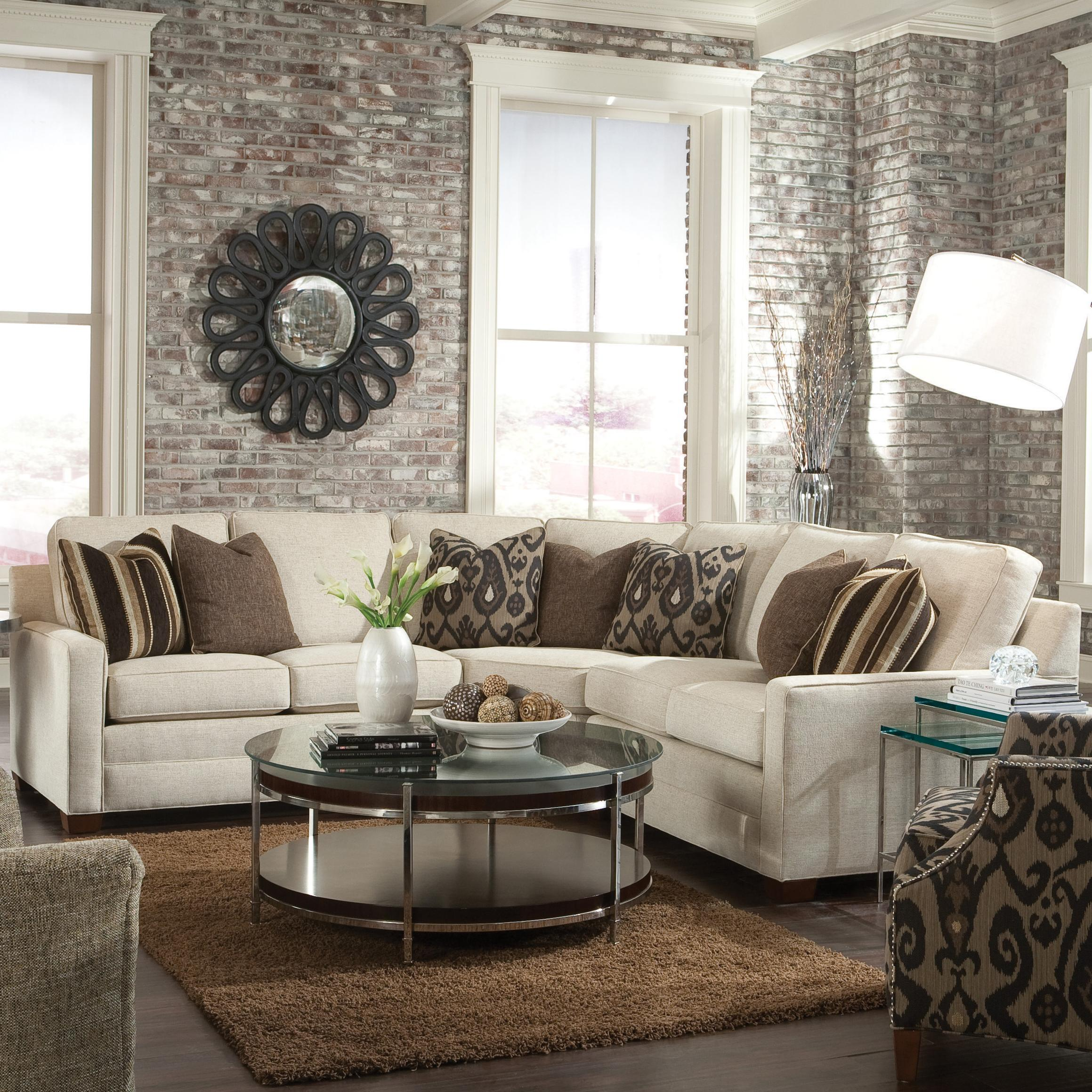 Huntington House 2062 Customizable Contemporary Sectional Sofa  ~ How To Measure A Sectional Sofa With Wedge