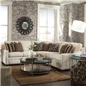 Huntington House 2062 Sectional Sofa - Item Number: 2062-43+32+42