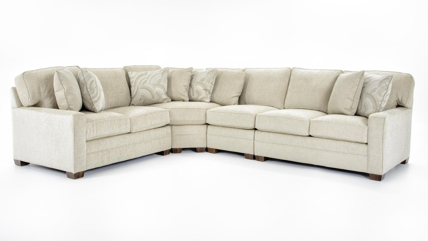Huntington House 2062 4 Pc Sectional Sofa - Item Number: 2062-51C+2062-32C+2062-43C+2062-42C