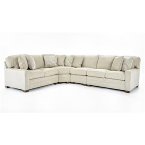 Huntington House 2062 4 Pc Sectional Sofa