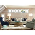 Huntington House 2081 Solutions Customizable Sofa with English Arms and Turned Wood Legs