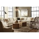 Huntington House 2100 Two Piece Traditional Corner Sectional Sofa