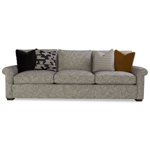 Geoffrey Alexander Plush Customizable Sofa w/ Rolled Arms