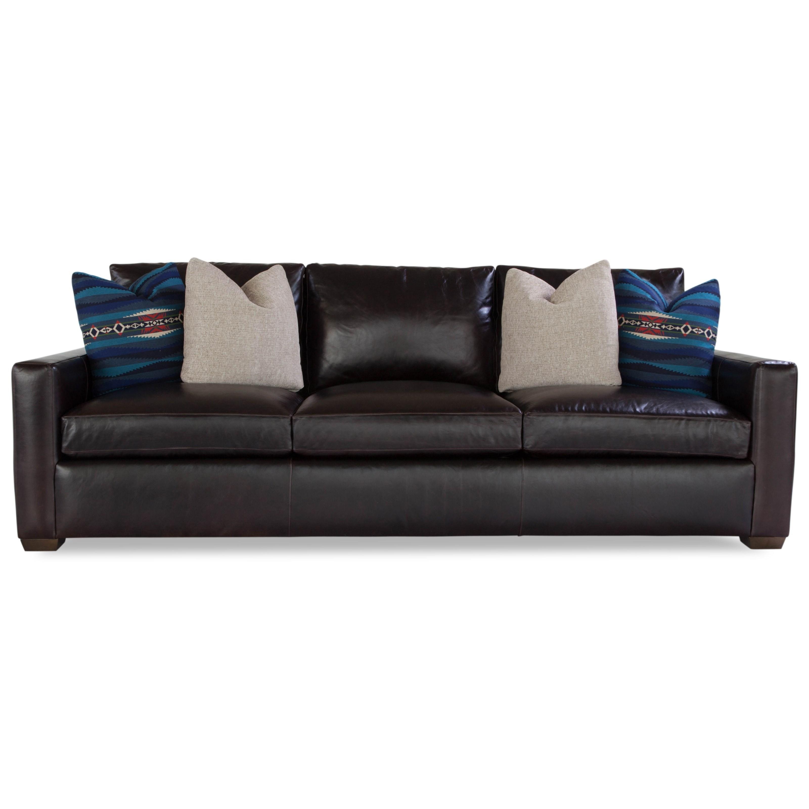 Plush Sofa w/ Track Arms by Geoffrey Alexander at Sprintz Furniture