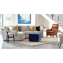 Huntington House Plush Customizable Contemporary Sectional with Left Arm Facing Corner Chaise and Track Arms