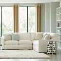Huntington House Plush 2-Piece Sectional - Item Number: 2300-43+24-PURE-1471-88