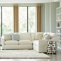 Geoffrey Alexander Plush 3 Pc Sectional w/ Flare Arms - Item Number: 2300-43+31+42-PURE-1471-88