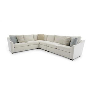 4 Pc Sectional w/ Flare Arms