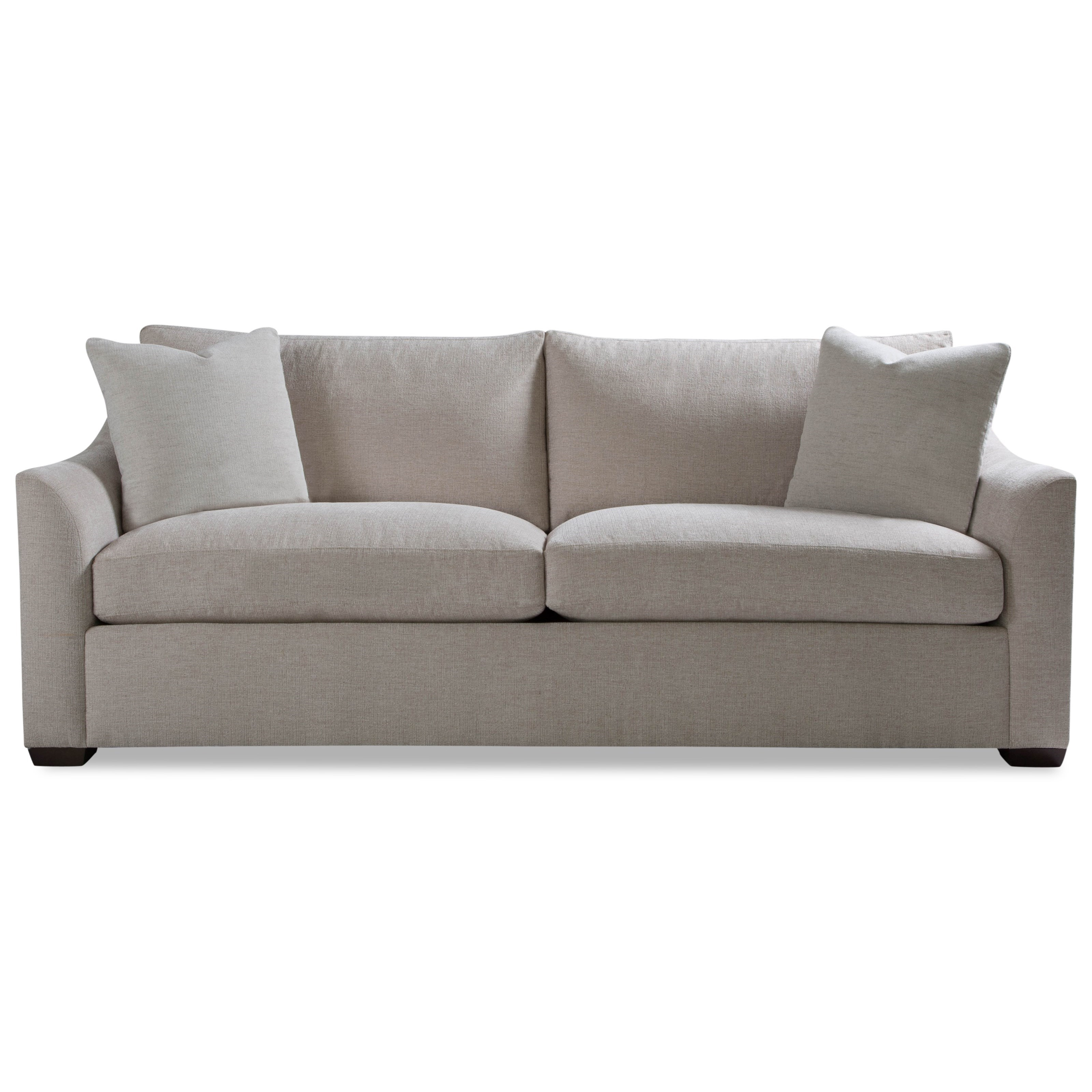 Plush Two Cushion Sofa w/ Flared Arm by Huntington House at Belfort Furniture