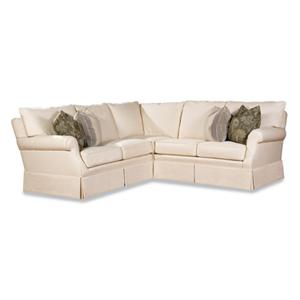 2051 Customizable Sectional Sofa with Clean Skirt by Huntington House