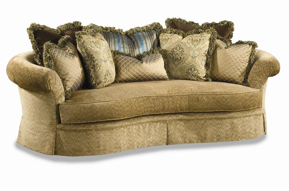 3167 Curvaceous Upholstered Sofa By Huntington House