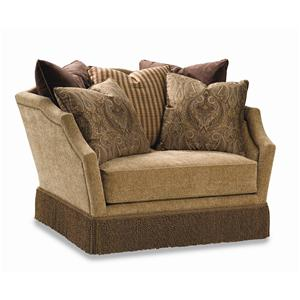 3398 Traditional Upholstered Chair Featuring Throw Pillows by Huntington House