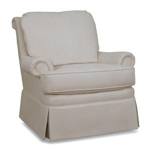 4082 Casual Upholstered Fabric Chair with Loose Pillow Back and Full Skirt by Huntington House