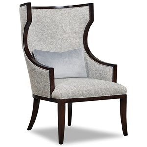 Exposed Wood Accent Chair
